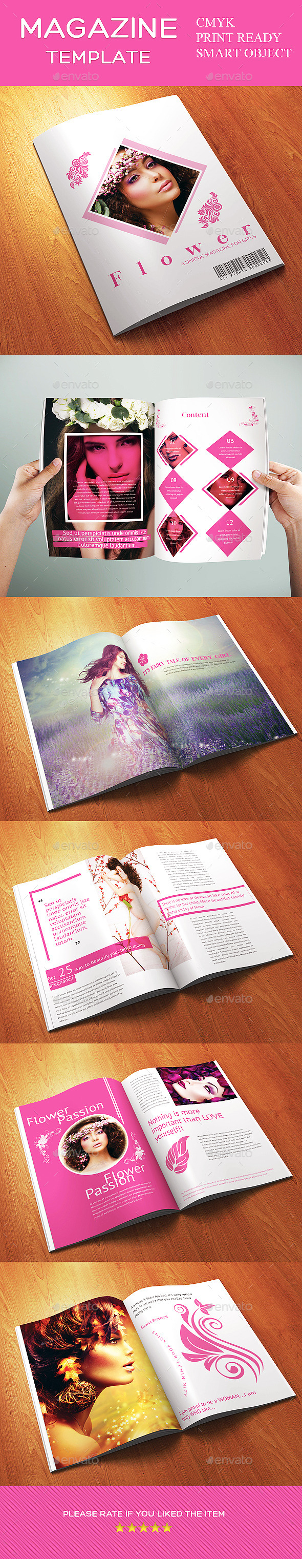 GraphicRiver 12 Pages Minimal Woman Fashion Magazine Template 11580333