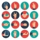 Hands Icons Set Flat  - GraphicRiver Item for Sale