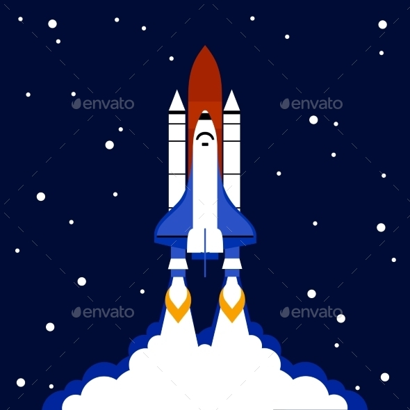 GraphicRiver Launch Concept Space Rocket Background 11580351