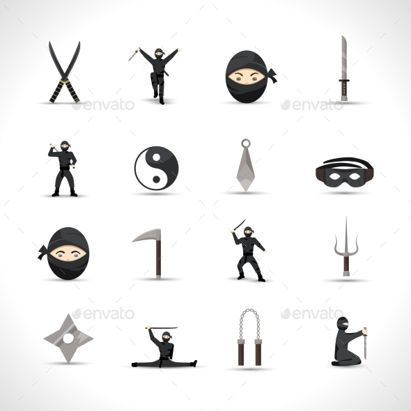 GraphicRiver Ninja Icons Set 11580357