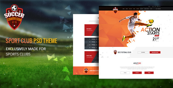 ThemeForest Soccer Club Multipurpose PSD Template 11580537