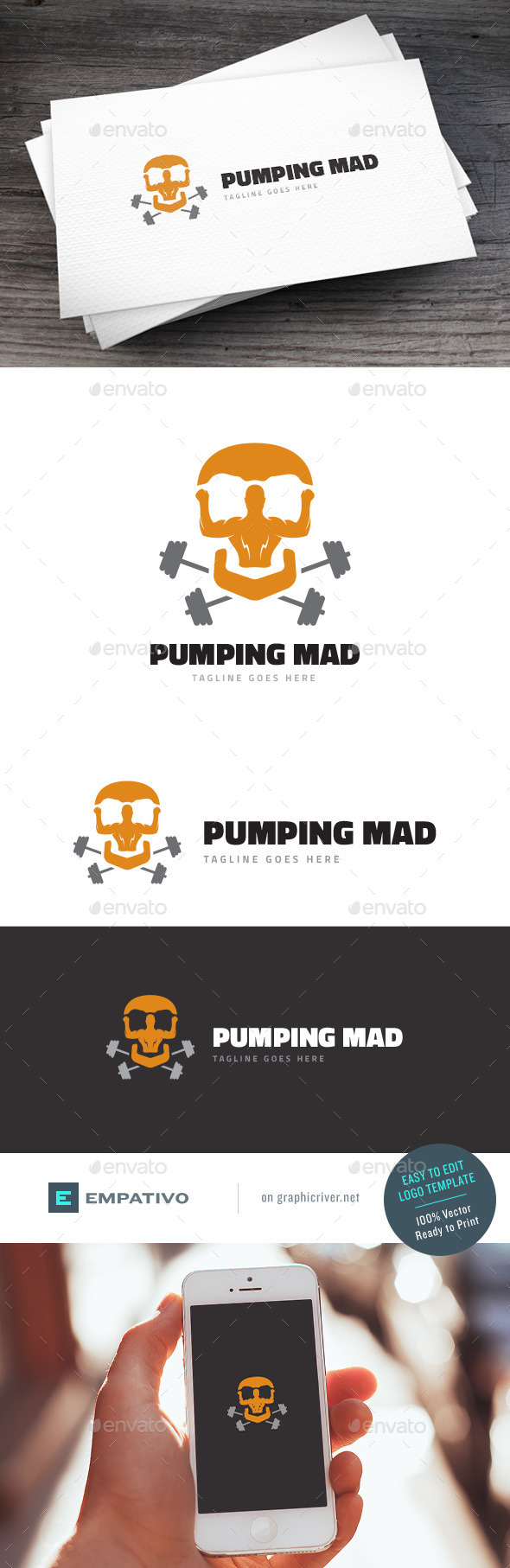 GraphicRiver Pumping Mad Logo Template 11580596