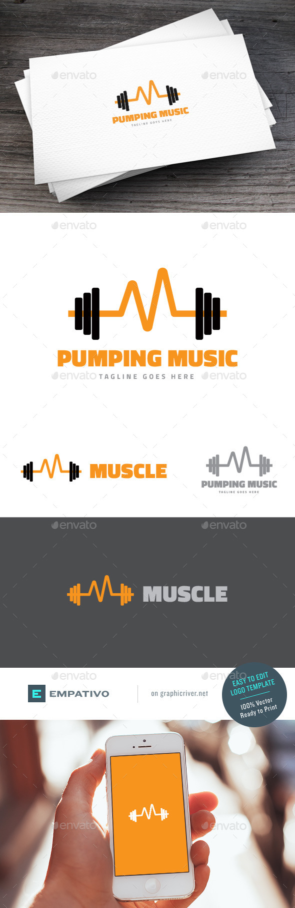 GraphicRiver Pumping Music Logo Template 11580600