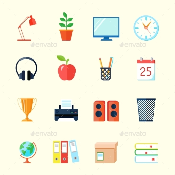 GraphicRiver Room Interior Icons 11580774