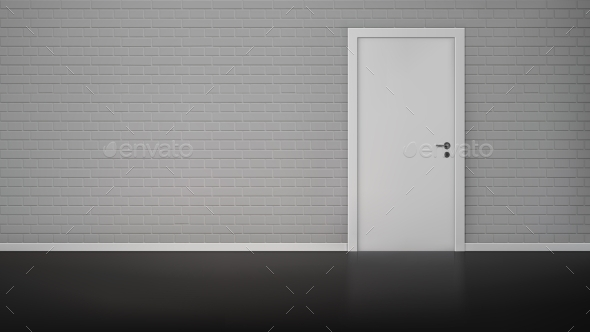 GraphicRiver Brick Wall with Door 11580783
