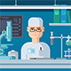 Doctor Sits in Laboratory - GraphicRiver Item for Sale