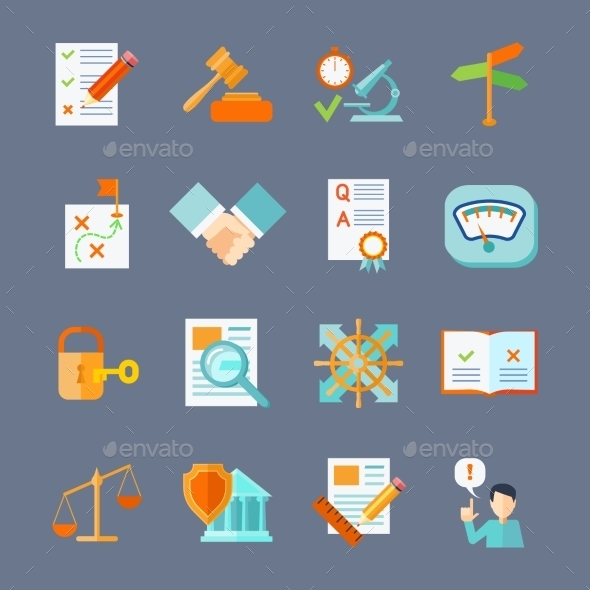 GraphicRiver Legal Compliance Icons Set 11580817