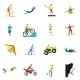 Extreme Sports Flat Icons Set - GraphicRiver Item for Sale