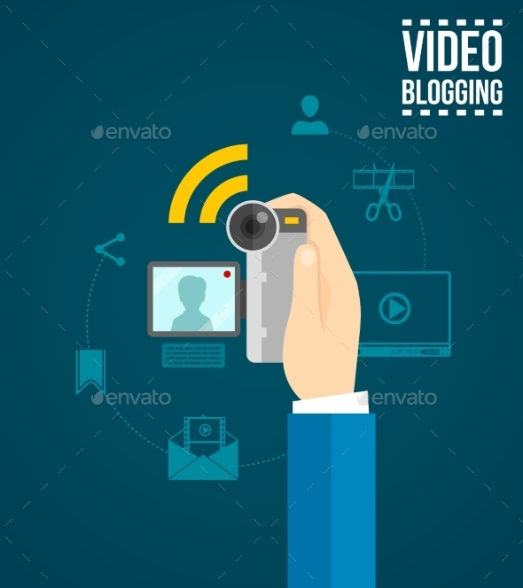 GraphicRiver Video Blogging Concept 11580834