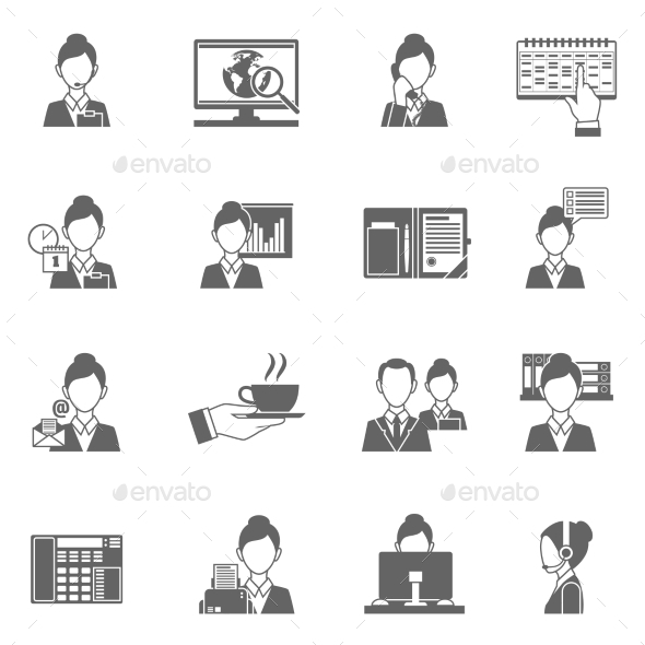GraphicRiver Personal Assistant Icons 11580838