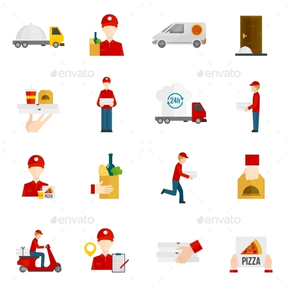 GraphicRiver Food Delivery Icons Set 11580848
