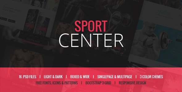 ThemeForest Sport Center Gym Yoga & Dance template 11580850