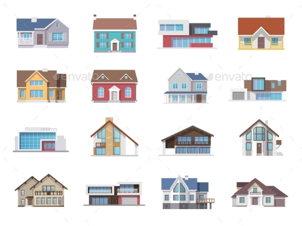 GraphicRiver House Icons Flat 11580861