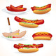 Hot Dog and Sausages - GraphicRiver Item for Sale