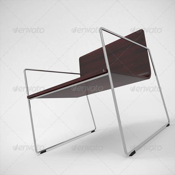 Lineal Armchair - 3DOcean Item for Sale