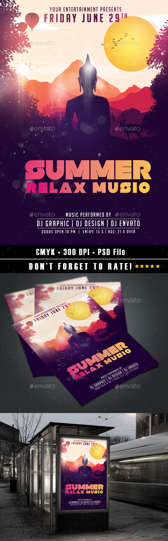GraphicRiver Summer Relax Music Flyer 11580880