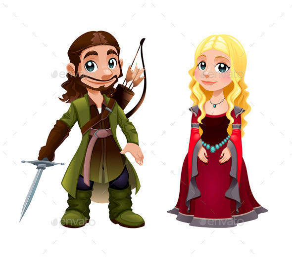 GraphicRiver Medieval Couple Knight and Princess 11580895