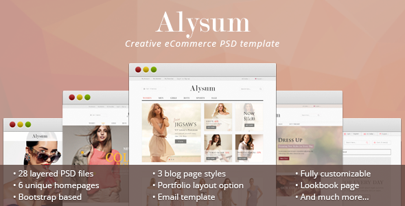 ThemeForest Alysum eCommerce PSD Template 11580901