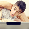 Surprised Teenager with Tablet - PhotoDune Item for Sale