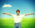 Happy Teenager in the Field - PhotoDune Item for Sale