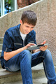Cheerful Teenager with Tablet - PhotoDune Item for Sale
