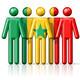 Flag of Senegal on stick figure - PhotoDune Item for Sale
