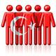 Flag of Turkey on stick figure - PhotoDune Item for Sale