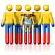 Flag of Ecuador on stick figure - PhotoDune Item for Sale