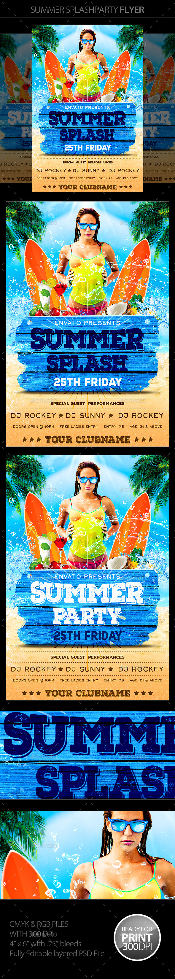 GraphicRiver Summer Party Flyer 11581095