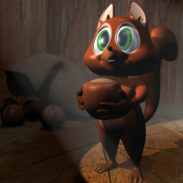 3DOcean Cartoon Squirrel RIGGED 11581221