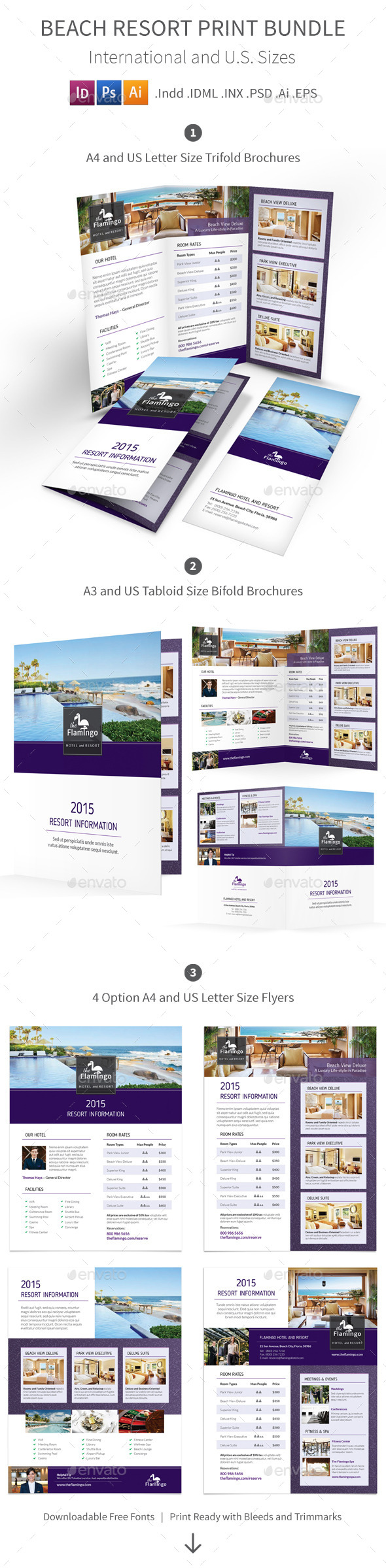 GraphicRiver Beach Resort Print Bundle 11581538