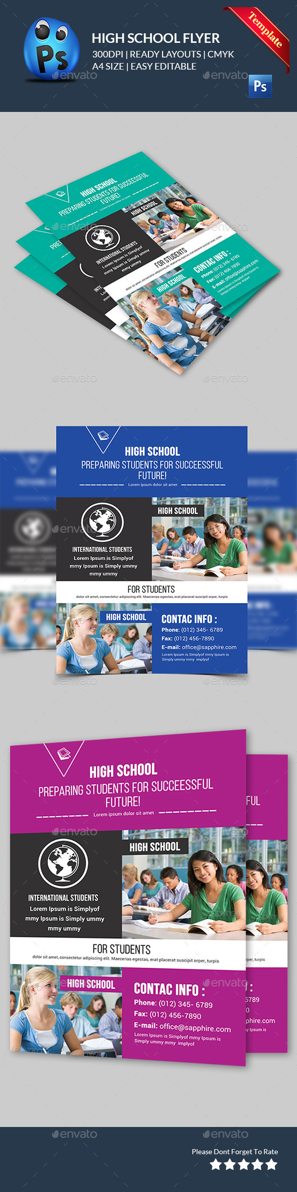 GraphicRiver School Education Flyers 11581580