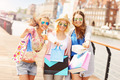 Group of friends shopping in the city - PhotoDune Item for Sale