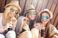 Group of friends drinking cocktails in the city - PhotoDune Item for Sale