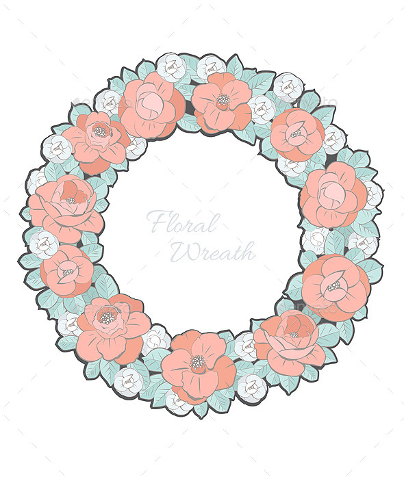 GraphicRiver Floral Wreath 11581657