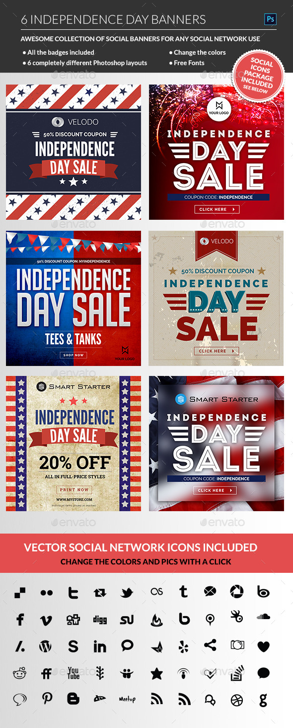 GraphicRiver July 4th Sale Banners 11581970