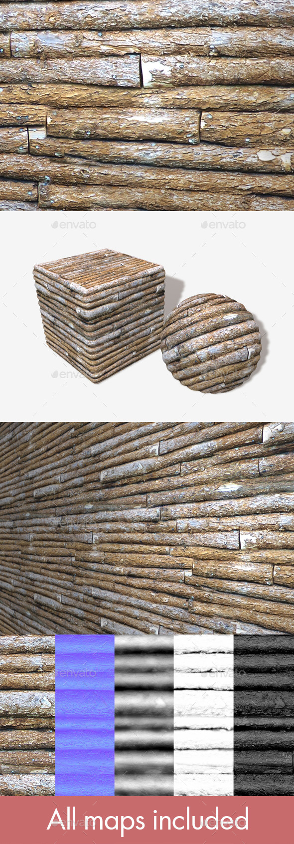 Log Cabin Seamless Texture - 3DOcean Item for Sale