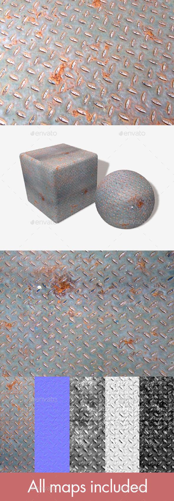 3DOcean Rusty Metal Grid Seamless Texture 11582019