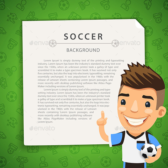GraphicRiver Green Background with Soccer Player 11571797