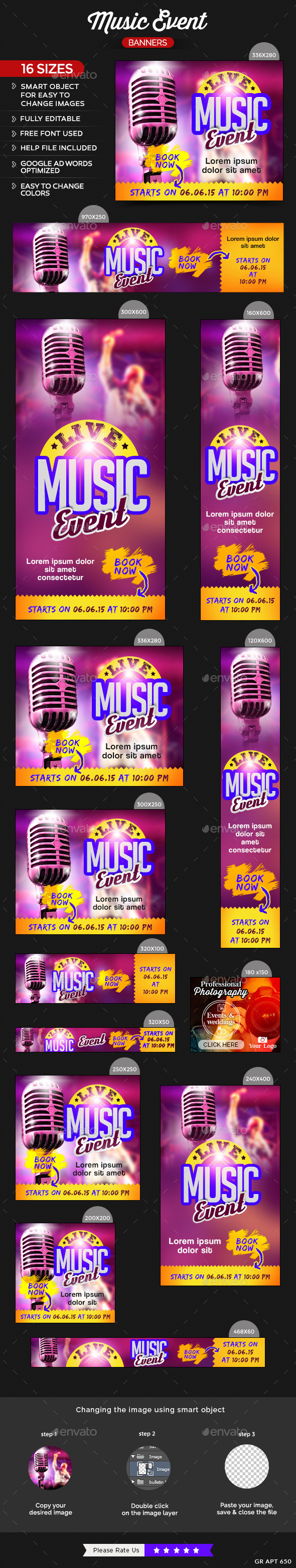 GraphicRiver Music Event Banners 11582154