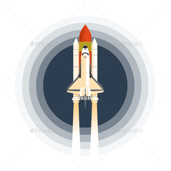 GraphicRiver Space Shuttle 11582228