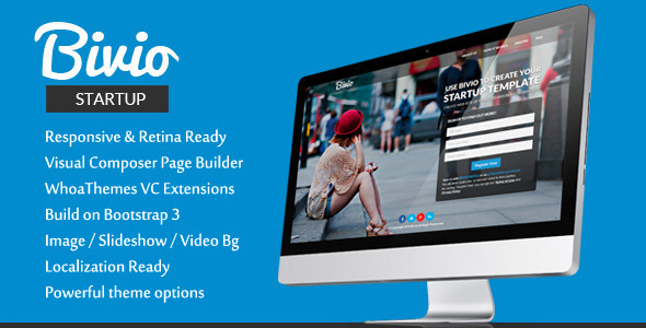 Bivio - Bootstrap 3 App Landing Page WordPress