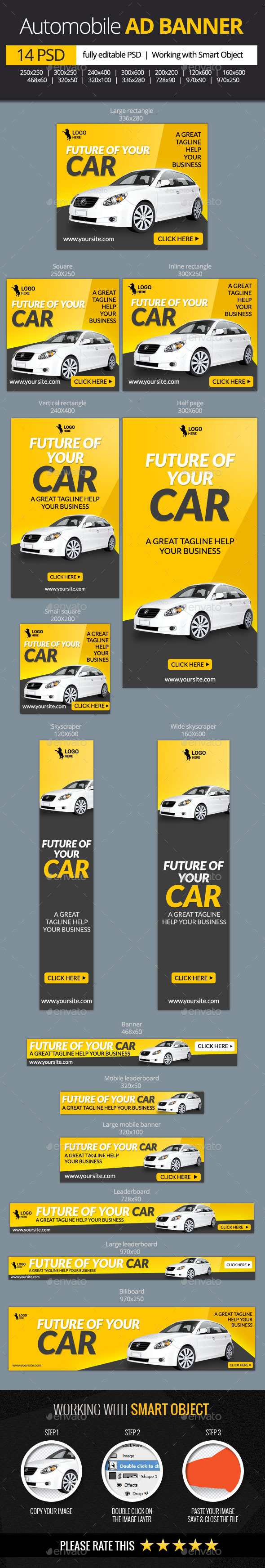 GraphicRiver Car and Automobile Web Banners 11582333