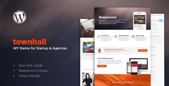 ThemeForest Townhall Modern Theme for Startups and Agencies 11426781
