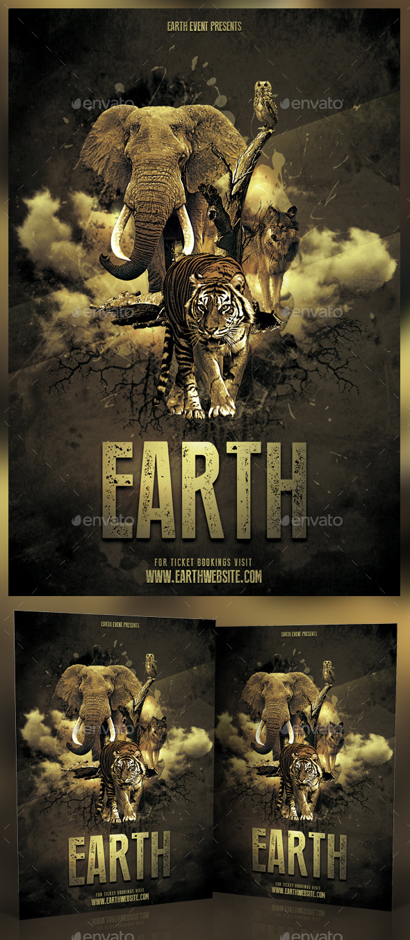 GraphicRiver Earth Photoshop Flyer 11582543