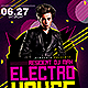 Electro House DJ Saturdays   Flyer Template PSD - GraphicRiver Item for Sale