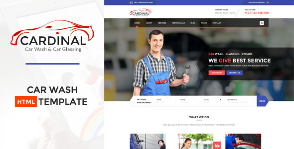 ThemeForest Car dinal Car Wash & Workshop HTML Template 11454040