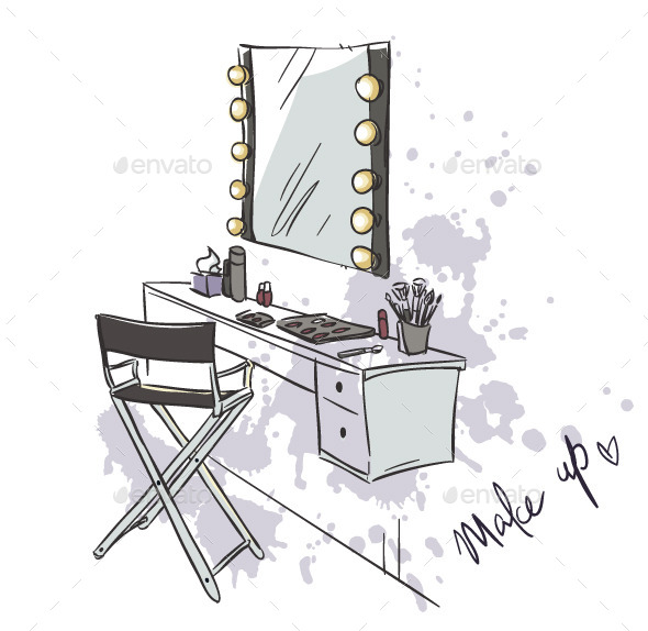 GraphicRiver Make Up Vanity Table 11582688