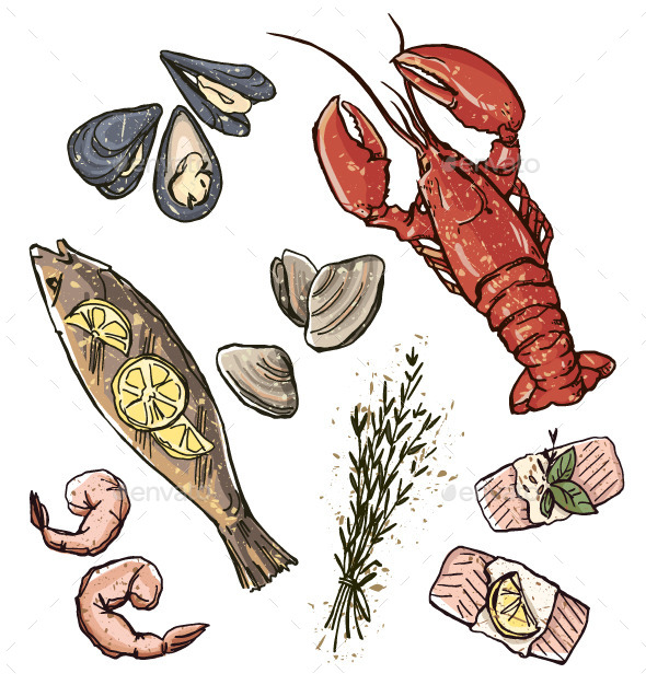 GraphicRiver Seafood Selection 11582829