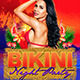 Bikini Night Party Flyer Template